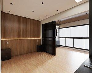 3D Empty studio interior 02 model