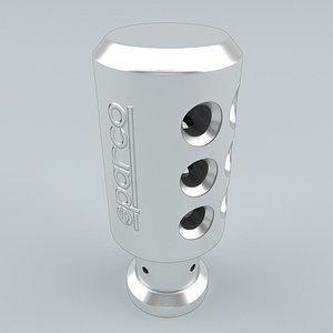 SPARCO PIUMA Shift Knob Silver 3D