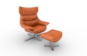 3D Low Poly Revive Natuzzi Armchair