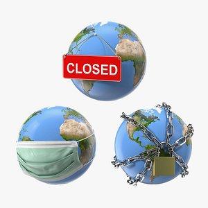 earth stylized 2 3D model