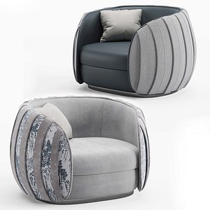 Inedito Asnaghi Loto armchair 3D model