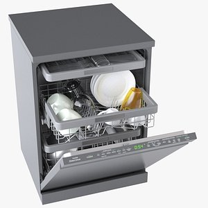 Freestanding Dishwasher 3D model