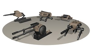 3D 5 Heavy Weapons turret Pack model