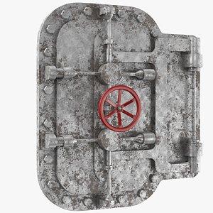 3D model Rusted Bunker Door