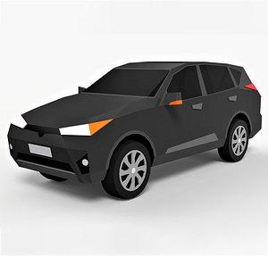 Cartoon Car SUV 1 3D model