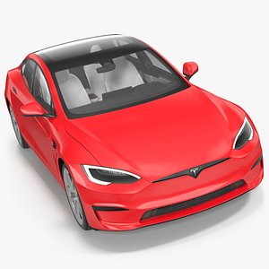 3D Tesla Model S Plaid model