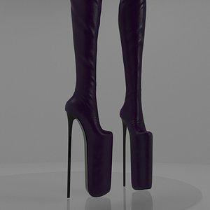 high heels boots model