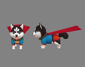 3D Cartoon puppy - Super Dog - alaskan