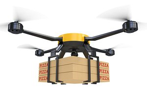 3D Pizza Delivery Drone