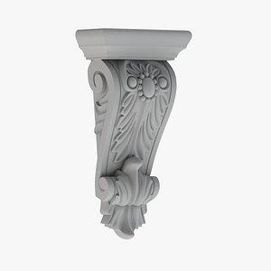 3D Scroll Corbel 59 - 3D Printable
