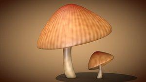 3D mushroom fungus nature model