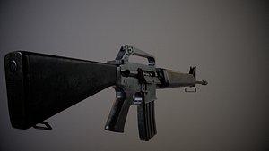 m16 m16a1 3D model