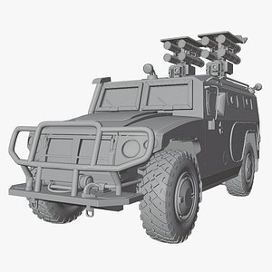 vehicle military 3D