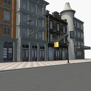 town building 0014 3D