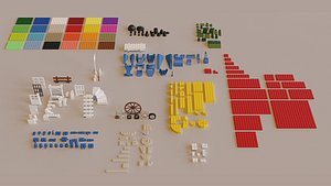 Lego Bricks Collection 3D model