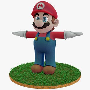 3D Mario Bros Rigged Low Poly PBR