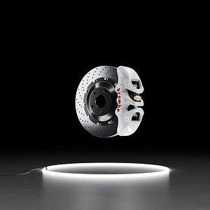 3D model Brembo BM-6 caliper Brembo brakes disk rotor brake system 3D model