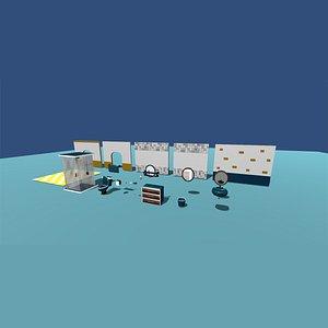 Kawaii House interior Pack - Bathroom 3D model