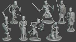 3D knight templar t1 pack1 model
