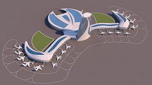 port organic 3D model