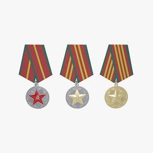 medal soviet union 3D model
