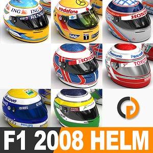raikkonen f1 racing 2008 model