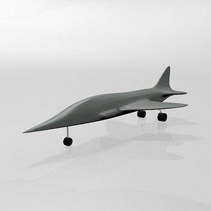jet fighter 04 3D model