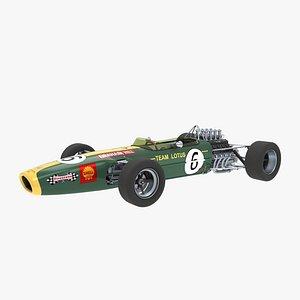 Lotus 49 Graham Hill 3D model