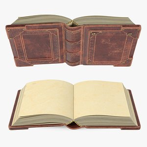 Old Brown Ornate Open Book model