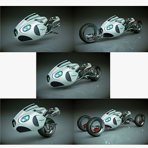 T Concept Bike 02 5 in 1 Collection 01 3D model