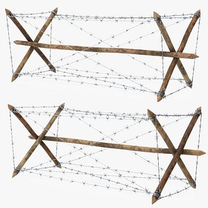 3D Knife Rest Barbed Wire Obstacle model
