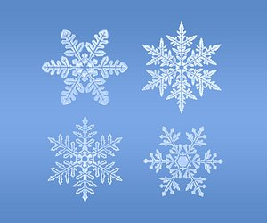 3D Snowflakes set v1 model