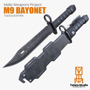 m9 bayonet knife 3D model