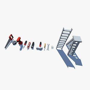3D model Low poly Tools