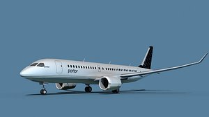 3D model Bombardier CS100 Porter