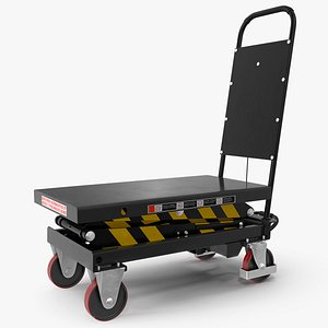 3D mobile hydraulic scissor trolley