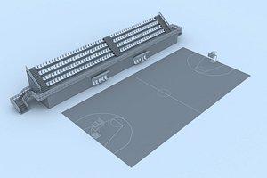 3D basketball court 2 model