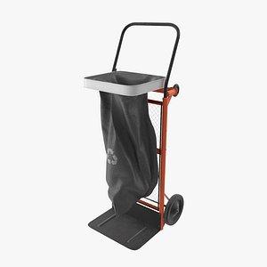 3D mobil waste cart