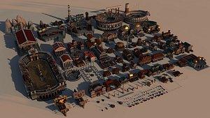 3D mega roman city pack model