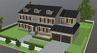 Furnished colonial suburban house