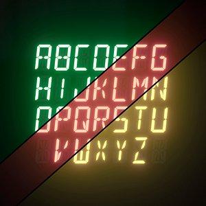 3D model Light modules Set 104 Alphabet