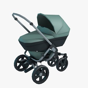 3D baby stroller poussette model
