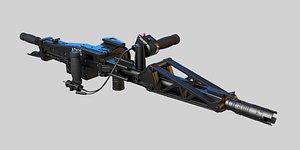 M56 Smartgun Aliens 3D model