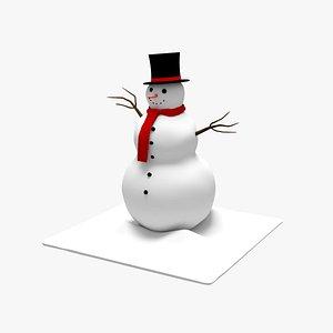 snowman snow man model