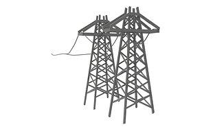 Powerlines 3D model