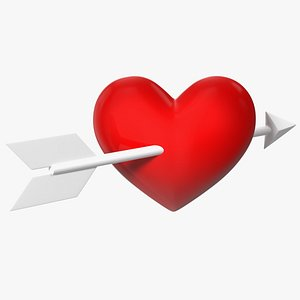 Heart with Arrow Emoji 3D