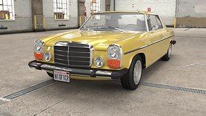 1968 1975 Mercedes Benz W114 Coupe 3D model