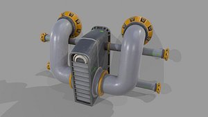 3D Prosp 1 from Wall Tube Mechanism Props model