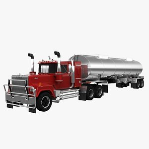 3D model Mack Super-Liner  Tank Trailer
