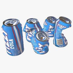 3D model soda pop drink cans
